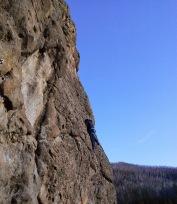 Rock climbing 5.8