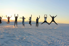Jump as high as you can - White Sands