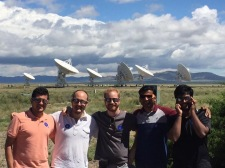 VLA visit when we saw partial Solar Eclipse